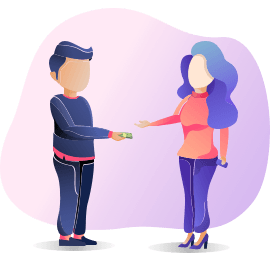 Money exchange Illustration
